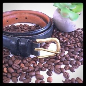 Authentic Coach genuine black leather belt
